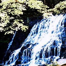 background waterfall happy goal achievement tree leaves rocks thankyou loveyourself beyourself freetoedit