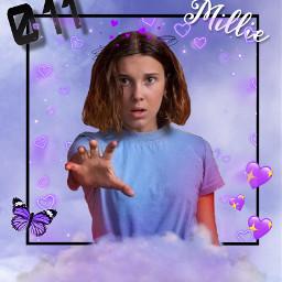 milliebobbybrown milliebobbybrownedit millie eleven elle purple box cloud 11 love hearts freetoedit