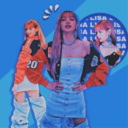 freetoedit kpop korea lisa lisablackpinkedit lisablackpink blackpink girlidol idol aeshetic kpopedit aesheticblue