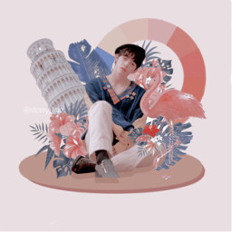 scoups svt seventeen leader interesting music leftandrightchallenge kpop bighitentertainment pledis17 art paradise nature flamingo pinkaesthetic psd pink blue picsart photopea