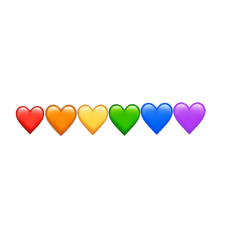 freetoedit heart rainbow lgbtq+ pride amazing supporting loveislove red yellow orange green blue purple color colors stickers useit recommended remix remixit picsart madewithpicsart idk bored