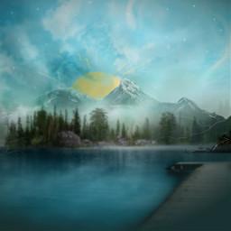 freetoedit mastershoutout vipshoutout mountain illustration