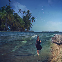 beachy keepitsimple123 tropical windyday picsartmaster freetoedit