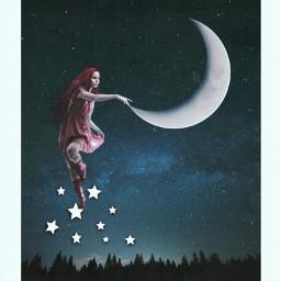freetoedit srcstarlight starlight girl moon