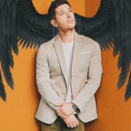 freetoedit jensenackels supernatural angel art