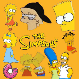 thesimpsons lisaschwartz bartsimpsons maggiesimpson margesimpsons homerosimpson donuts freetoedit