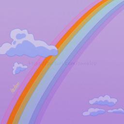 rainbow aesthetic clouds minimal minimalistic aestheticdrawing drawing digitaldrawing drawingonsmartphone