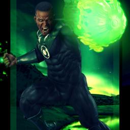 green lantern johnstewart greenlantern greenlanterncorps fanart dc comics dccomics superhero hero heroes goodguy action pose dynamic