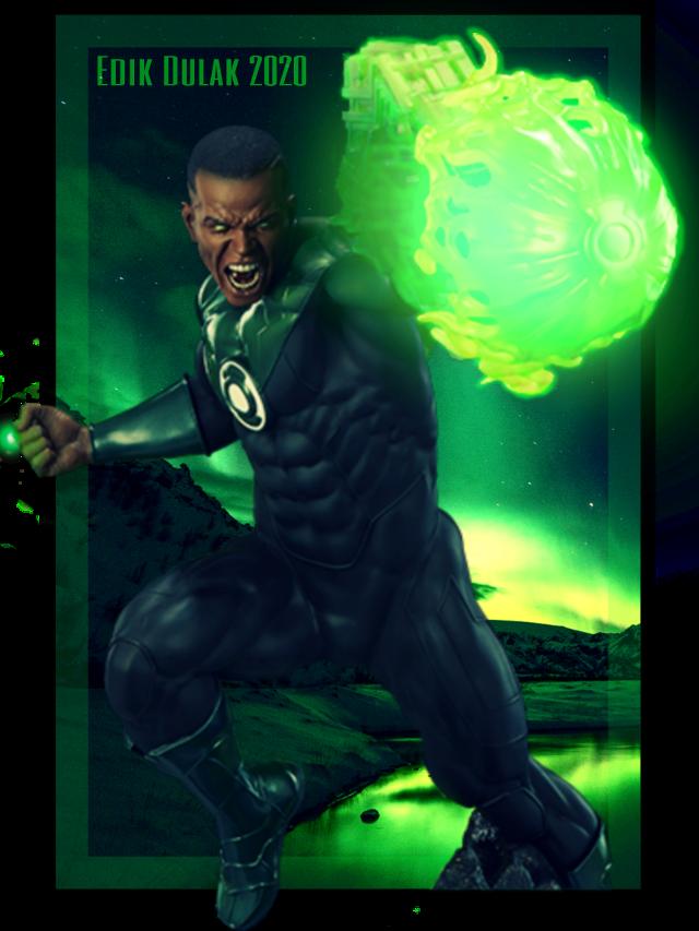 #green #lantern #johnstewart #greenlantern #greenlanterncorps #fanart #dc #comics #dccomics #superhero #hero #heroes #goodguy #action #pose #dynamic