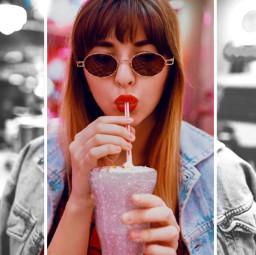 freetoedit remix effects milkshake picsart madewithpicsart girl women replay art myedit pink silver tillyxofficial