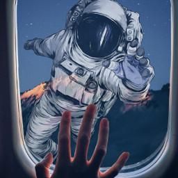 freetoedit ピクスアート picsart picsartreplay 写真加工 画像加工 加工画像 加工 加工の仕方 加工アプリ 加工画 加工好きな人と繋がりたい 宇宙 galaxy astronaut 窓 window