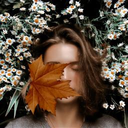 freetoedit daisyflower girl
