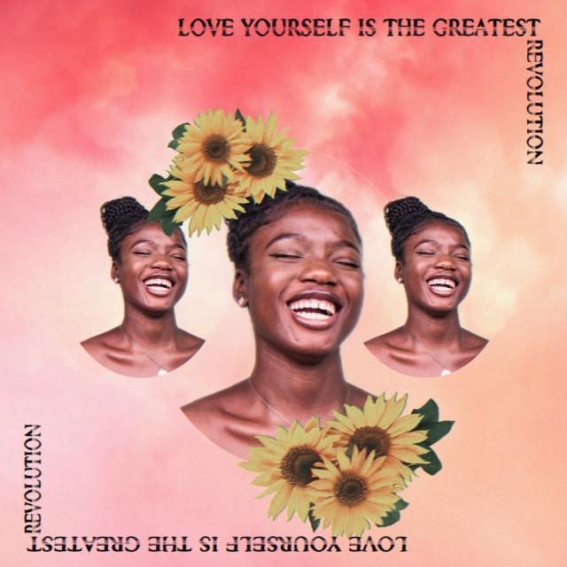 #freetoedit #aesthetic #smile #love #happiness #beautiful #woman #sunflowers #revolution #text #interesting #art