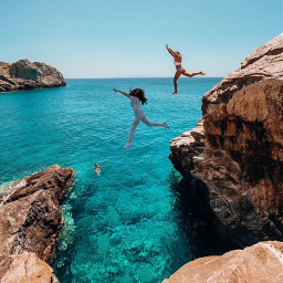 sea vacationmood vacation cliff travel traveling swimming ocean