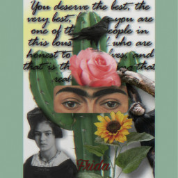 fridakahlo unibrow_queen collageart myart myedit lavida freetoedit