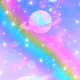 freetoedit glitter sparkle galaxy space sky stars rainbow milkyway pastels kawaii cosmos background