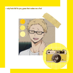 freetoedit anime haikyuu tsukishima_kei