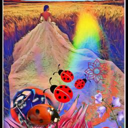 freetoedit magic flower ladybug marienk