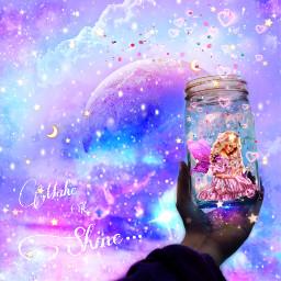 ircmagicjar magicjar freetoedit fantasy fairy makeitshine sparkle moon dream art
