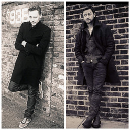 tomhiddleston jamesmcavoy wall trenchcoat british scottish actors handsomemen