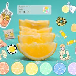 freetoedit lemon colorful collage