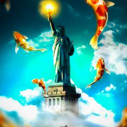 freetoedit statueofliberty statue liberty imahimation