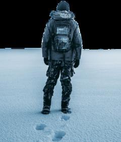 freetoedit man standing alone snow clod snowfall