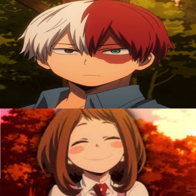 These two people are my perfect partner but in ship todoroki with deku so i guess uraraka UwU   Yes im single         Im late AGAIN