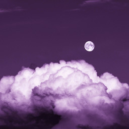 clouds moon purple background backgrounds remixit freetoedit