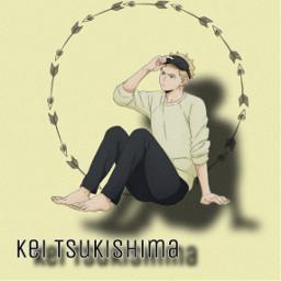 freetoedit keitsukishima tsukishima haikyuu anime weeb