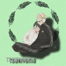 freetoedit keitsukishima tadashiyamaguchi yamaguchi tsukishima tsukiyama haikyuu anime weeb