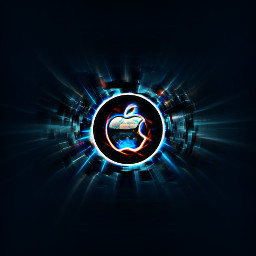 freetoedit apple computer logo interesting art cool lights mac jobs night party knowskilz remixme wallpapers backgrounds dark black neon pretty 303