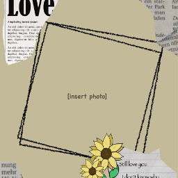 freetoedit background love tan nude sunflowers frame newspaper aesthetic imvu loveletter
