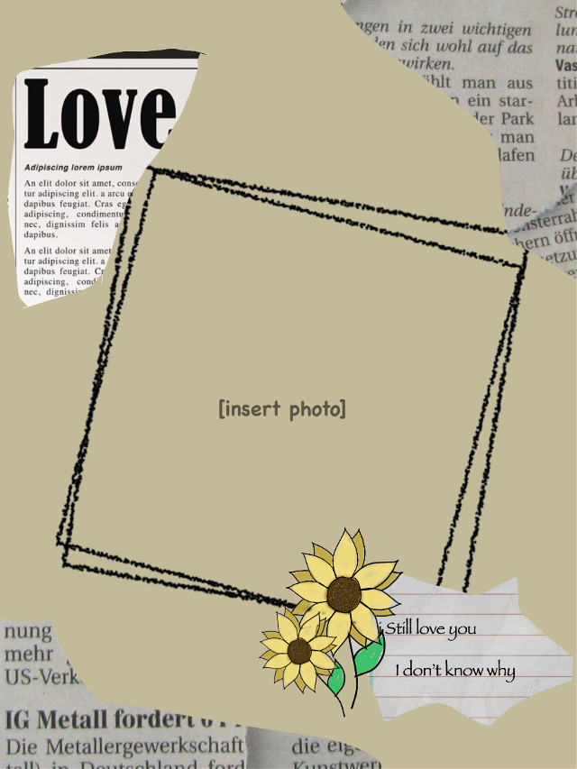 #freetoedit #background #love #tan #nude #sunflowers #frame #newspaper #aesthetic #imvu #loveletter