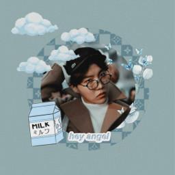 bts btsjhope btshoseok junghoseok hoseok jhope music kpop blue aesthetic vintage glasses circle freetoedit