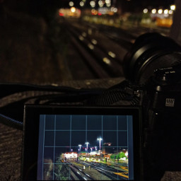 mobilephotography nightphotography trainstation picinpic freetoedit