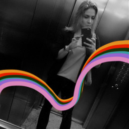 freetoedit arcoiris pretoebranco bkackandwhite selfie colorfulshapes