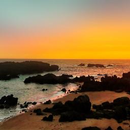 sun sunset sea coast beach freetoedit
