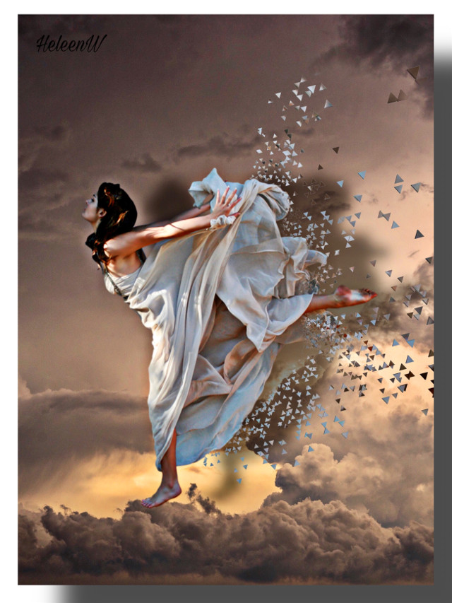 #dancer #dispersion #surreal #imagination #fantasy #myedit #myart #mystyle #picsart #picsartmaster #light #clouds #creativity #diversity #freetoedit