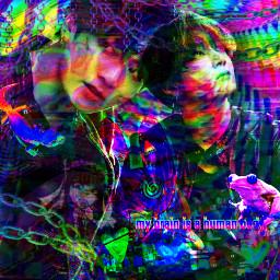 bluberri tragickook_1kcontest bts jungkook jeonjungkook jk glitch glitchcore rainbow rainbowcore cyber cybercore