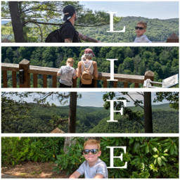 family weekend travel hiking woods sunday