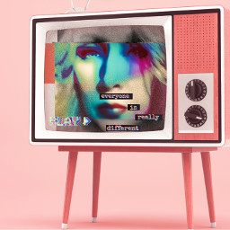 freetoedit holographic retro madewithpicsart glitch