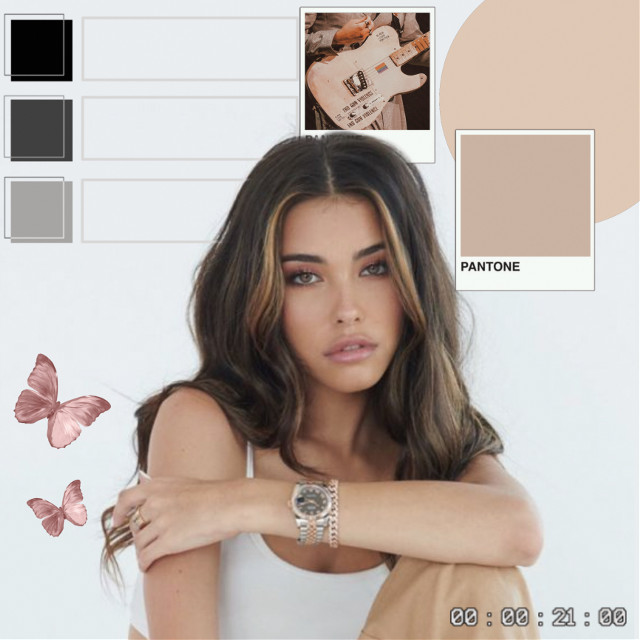 #freetoedit #replay #madisonbeer #tan #aesthetic #art #butterfly #pink #grey #white #colorful #edit