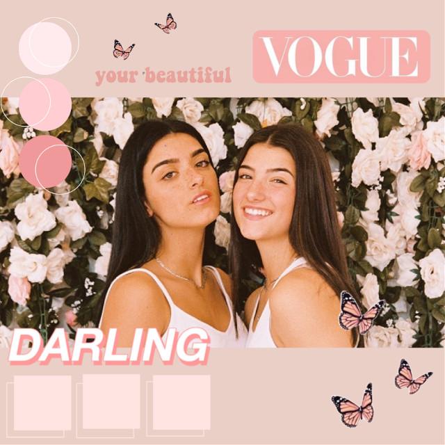 #freetoedit #replay #charlidamelio #dixiedamelio #dmelio #vogue #pink #aesthetic #flowers #floral #darling #edit #pinkpallete #colorful