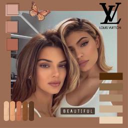 freetoedit replay kyliejenner kendalljenner kyliejenneredit jenners kendall brownaesthetic brown beige beautiful louisvuitton colourful