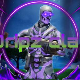 fortniteedit freetoedit remixit clanlogo fortnitelogo dripzclan dripzclanlogo cool skulltrooper purple