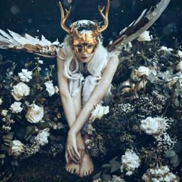freetoedit gold golden deer deers deergirl goldendeer deersticker mask deerskull deerspirit ecmyanimalalterego myanimalalterego