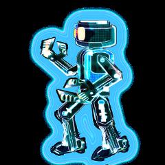 freetoedit stickers remixme robot cartoon metalic shiny glowing bright cyborg future sci bots electric circut irobot knowskilz stickersfreetoedit 303 picsart