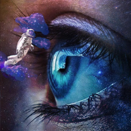 freetoedit eye galaxy astronaut clouds colorpaint upinspace