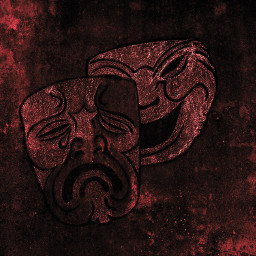 freetoedit theatre wall red mask masks emotions dark travel sad happy comedy photography travelphotography world art traveltheworld emotionsfreetoedit